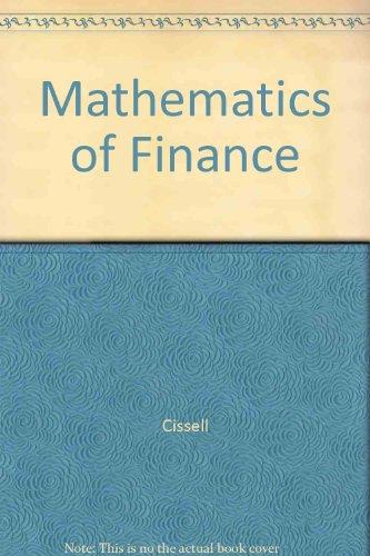 9780395526521: Mathematics of Finance