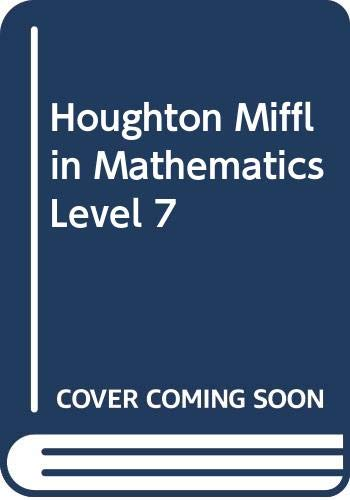 Houghton Mifflin Mathematics Level 7: Ernest R.; Quast;