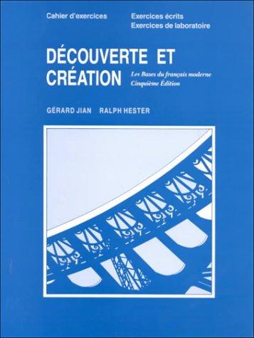 9780395529423: Decouverte Et Creation, Fifth Edition: Workbook/LAB Manual