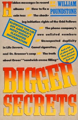 9780395530085: Bigger Secrets: More Than 125 Things They Prayed You'd Never Find Out