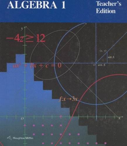 9780395535905: Algebra 1, Teacher's Edition