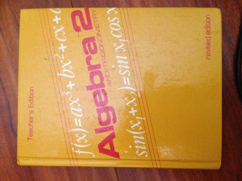 9780395535936: Algebra 2: And Trigonometry, Teacher's Edition