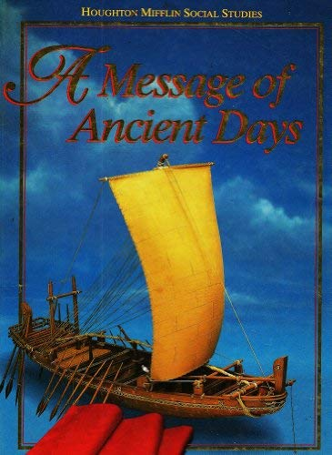 9780395540275: A Message of Ancient Days Teacher's Edition