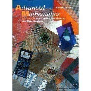9780395551899: Advanced Mathematics: Precalculus with Discrete Mathematics and Data Analysis