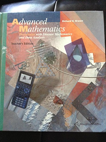 9780395552100: Advanced Mathematics: Precalculus with Discrete Mathematics and Data Analysis, Teacher's Edition