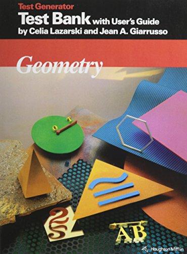 9780395555972: McDougal Littell Jurgensen Geometry: Test Bank and User Guide Geometry
