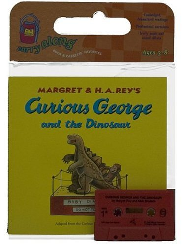 9780395564844: Curious George and the Dinosaur Book & Cassette