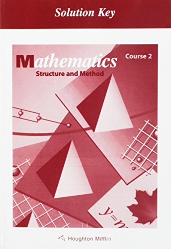 9780395570166: McDougal Littell Structure & Method: Solution Key Course 2