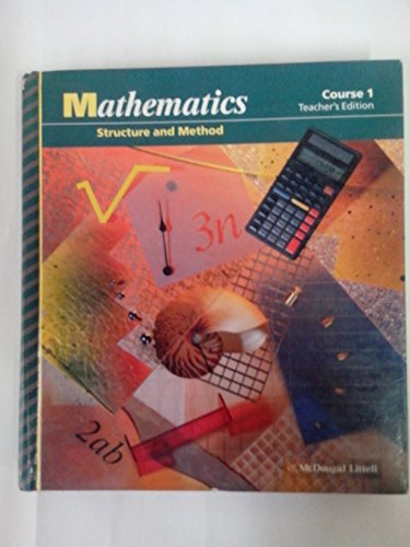 9780395570470: Mathematics Structure and Method