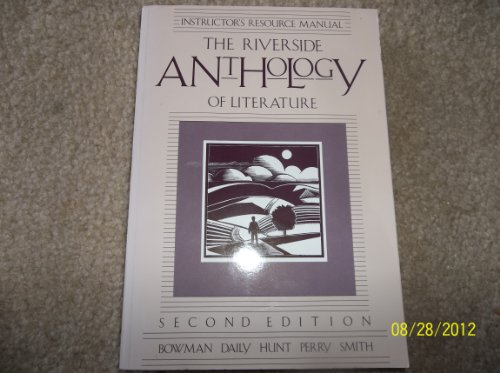 9780395572726: The Riverside Anthology of Literature