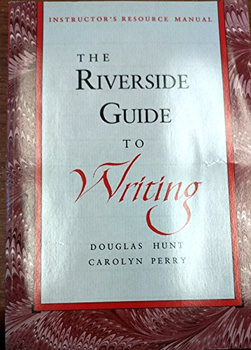 9780395572764: Riverside Guide to Writing (Instructor's Resource Manual)