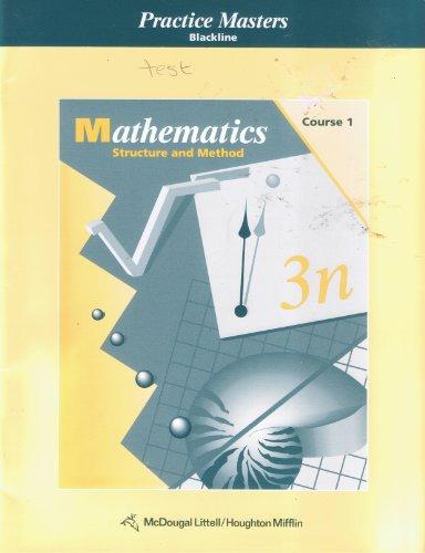 9780395581162: Houghton Mifflin: Mathematics - Structure and Method - Course 2 - Practice Masters - Blackline
