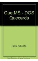 9780395584033: QUE MS - DOS QUECARDS