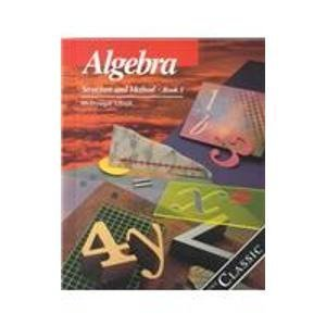 9780395585306: Algebra: Structure and Method Book One