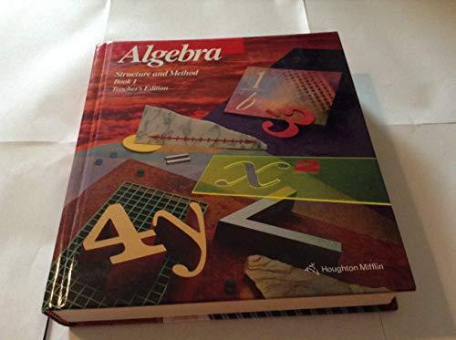 9780395585313: Algebra: Structure and Method - Book 1, Teacher's Edition