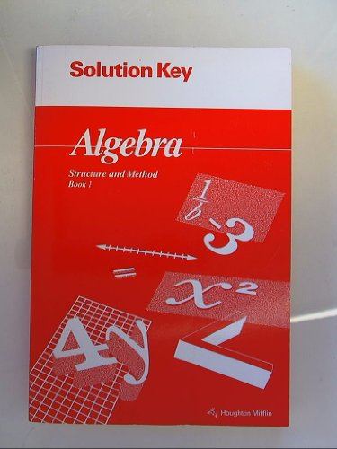 9780395585320: Algebra Structure and Method Book 1: Solution Key Isbn 0395585325