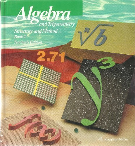 9780395585375: Algebra and Trigonometry Structure and Method, Book 2 (Teachers Edition)