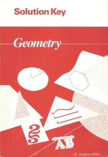 9780395585412: Houghton Mifflin - Geometry - Solution Key [Solutions Manual]