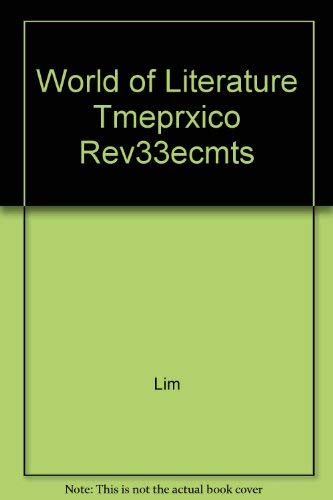 9780395588819: One World of Literature: Instructor's Resource Manual