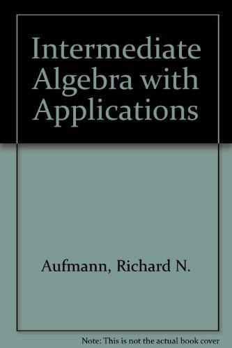9780395588895: Intermediate Algebra: With Applications