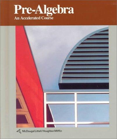 9780395591239: McDougal Littell Pre-Algebra: Student Edition Pre-Algebra 1992