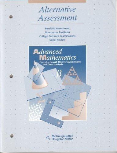 9780395594780: McDougal Littell Advanced Math: Alternative Assessment Grades 9-12