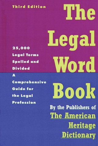 9780395595213: The Legal Word Book