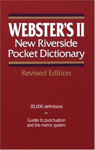 9780395601730: Webster's II New Riverside Pocket Dictionary