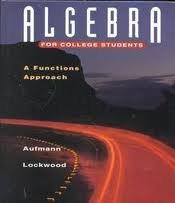 9780395602980: Algebra for college students