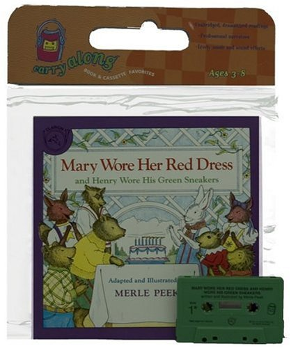 9780395615775: Mary Wore Her Red Dress and Henry Wore His Green Sneakers Book & Cassette [With Book]