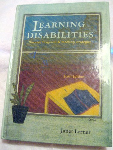 9780395622254: Learning Disabilities: Theories, Diagnosis and Teaching Strategies