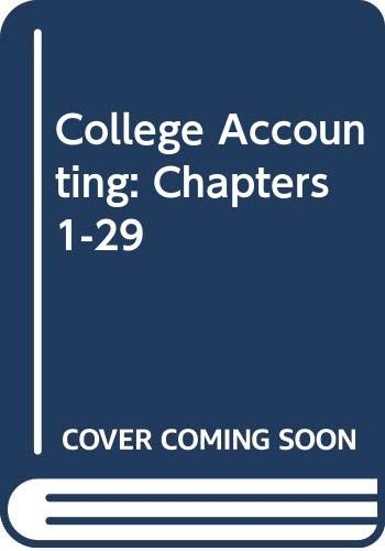 9780395623510: College Accounting: Chapters 1-29