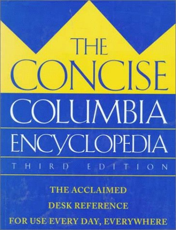 9780395624395: The Concise Columbia Encyclopedia: Third Edition