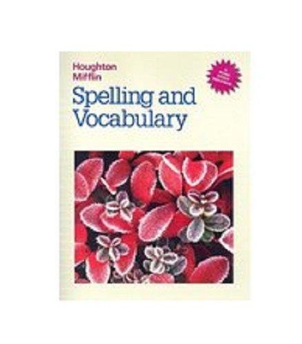 9780395626658: Spelling and Vocabulary (Houghton Mifflin Grolier Writer)