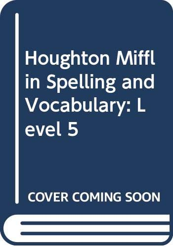 9780395626696: Houghton Mifflin Spelling and Vocabulary: Level 5