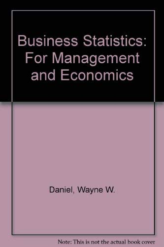 9780395628355: Business Statistics: For Management and Economics