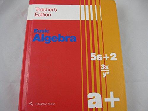 9780395637470: Basic Algebra Teacher's Edition