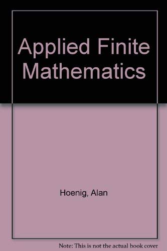 9780395637807: Applied Finite Mathematics