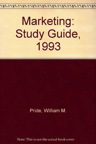 9780395638897: Marketing: Study Guide, 1993