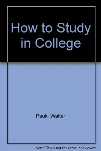 9780395643266: How to Study in College