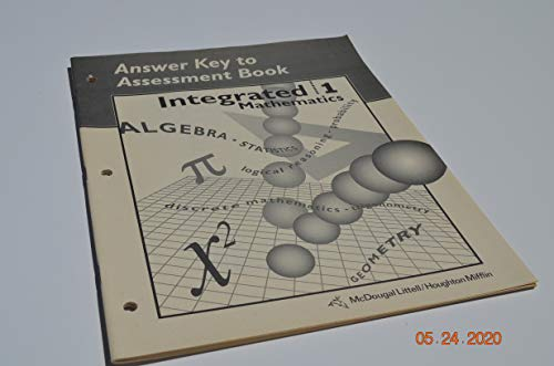 9780395644324: Answer Key to Assessment Book: Integrated Mathematics 1