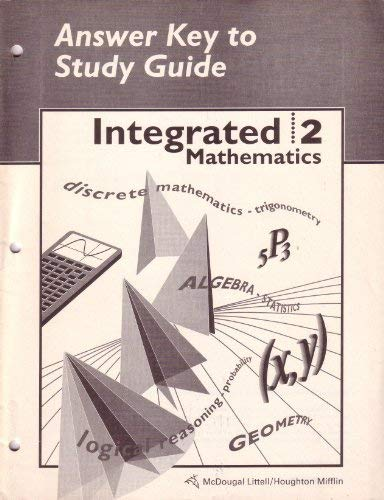 9780395644430: McDougal Littell Integrated Math: Study Guide Answer Key Book 2