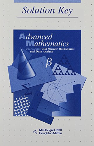 9780395649541: Advanced Math: Precalculus with Discrete Mathematics and Data Analysis (Solution Key)
