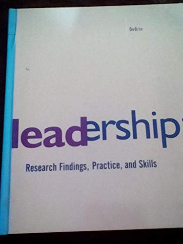 9780395656341: Leadership: Research Findings Practice and Skills