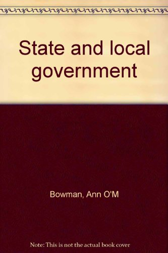 9780395663851: State and local government