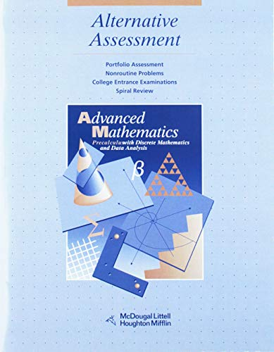 McDougal Littell Advanced Math: Alternative Assessment: MCDOUGAL LITTEL