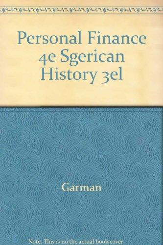 9780395668535: Personal Finance 4e Sgerican History 3el