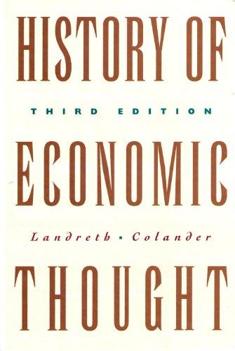 The History of Economic Thought: Harry Landreth, David