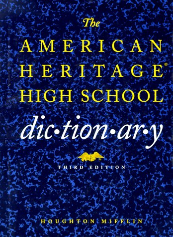9780395671481: The American Heritage High School Dictionary