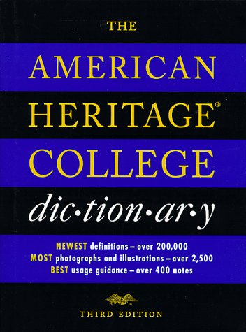 The American Heritage College Dictionary, Third Edition